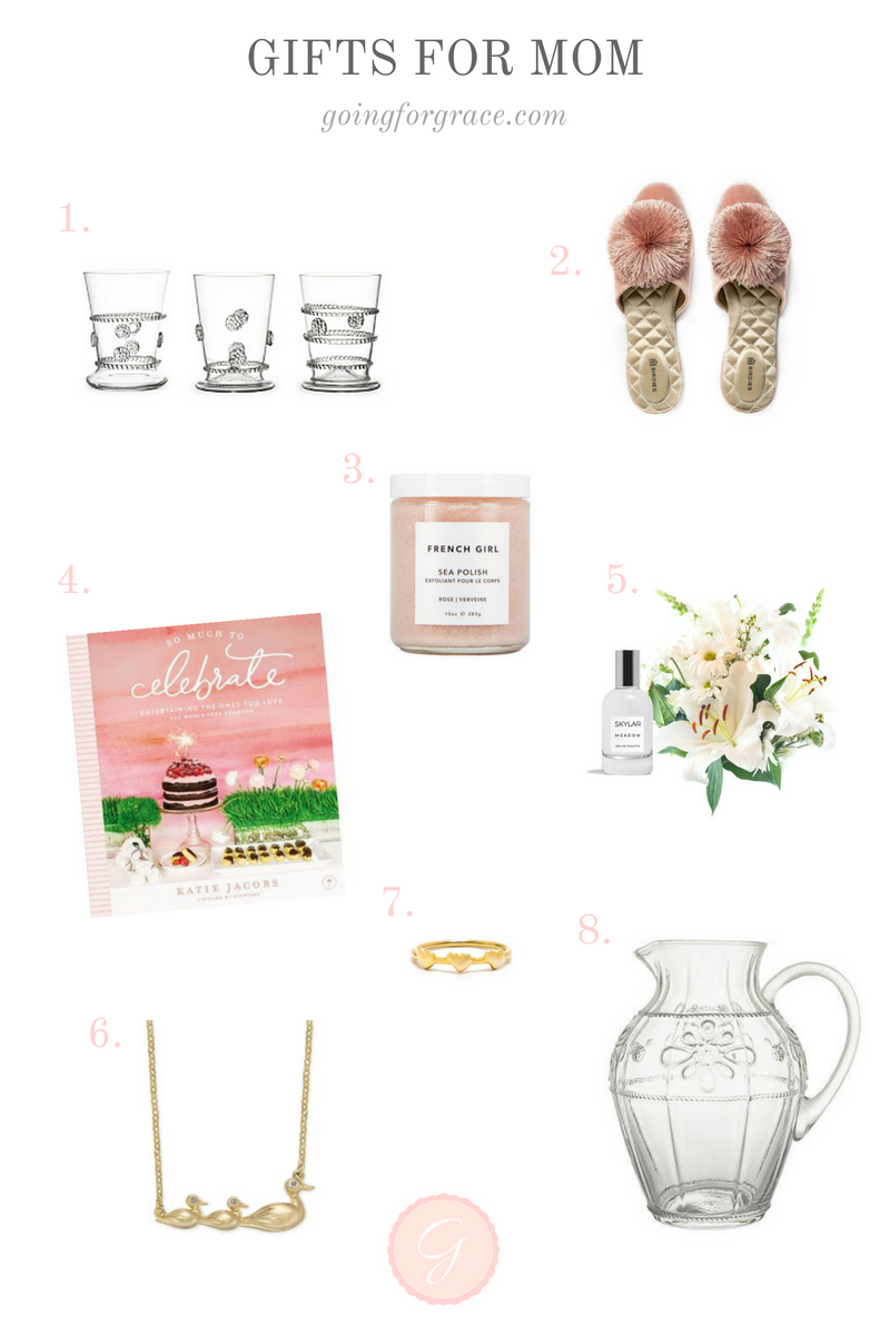 A Mother's Day gift guide by Lauren Cermak of the Southern Lifestyle Blog, Going For Grace.