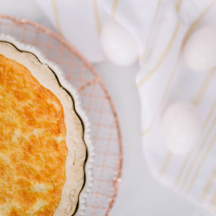 A quick, simple recipe for Quiche Lorraine by Lauren Cermak of the Southern lifestyle blog, Going For Grace.