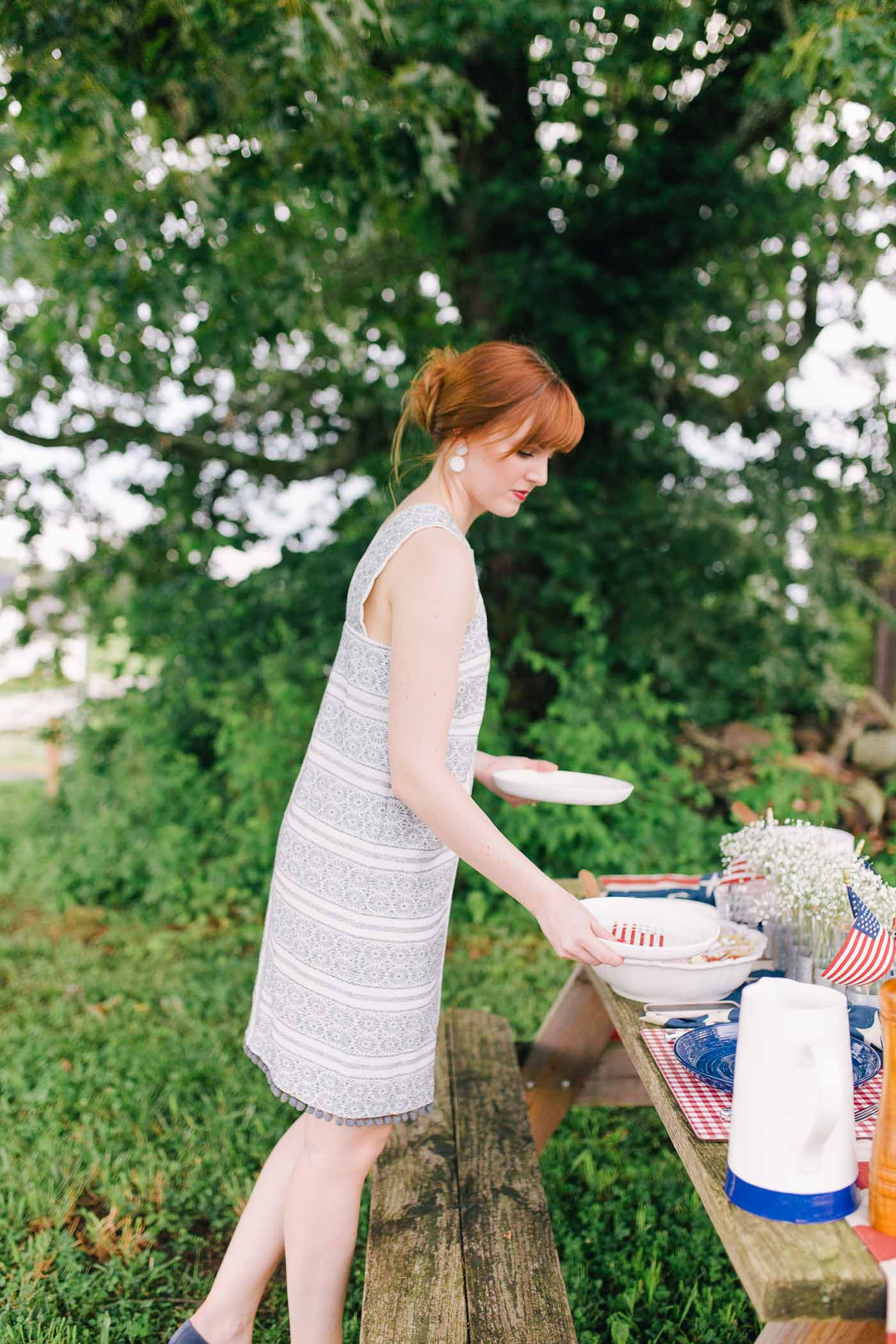 A Memorial Day picnic from menu to tablescape to attire by Lauren Cermak of the Southern Lifestyle Blog, Going For Grace.