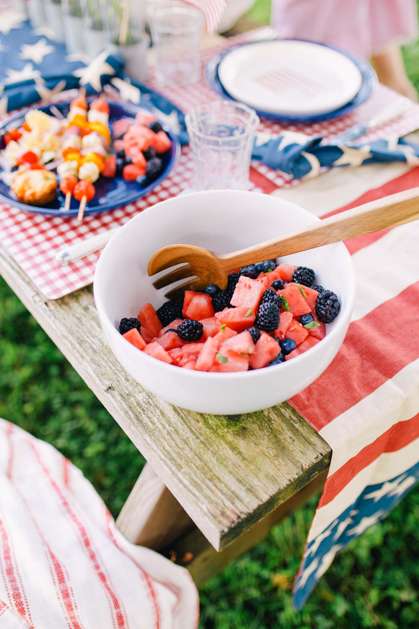 A roundup of Fourth of July menu ideas by Lauren Cermak of the Southern Lifestyle Blog, Going For Grace. The perfect addition to any red, white, and blue celebration!
