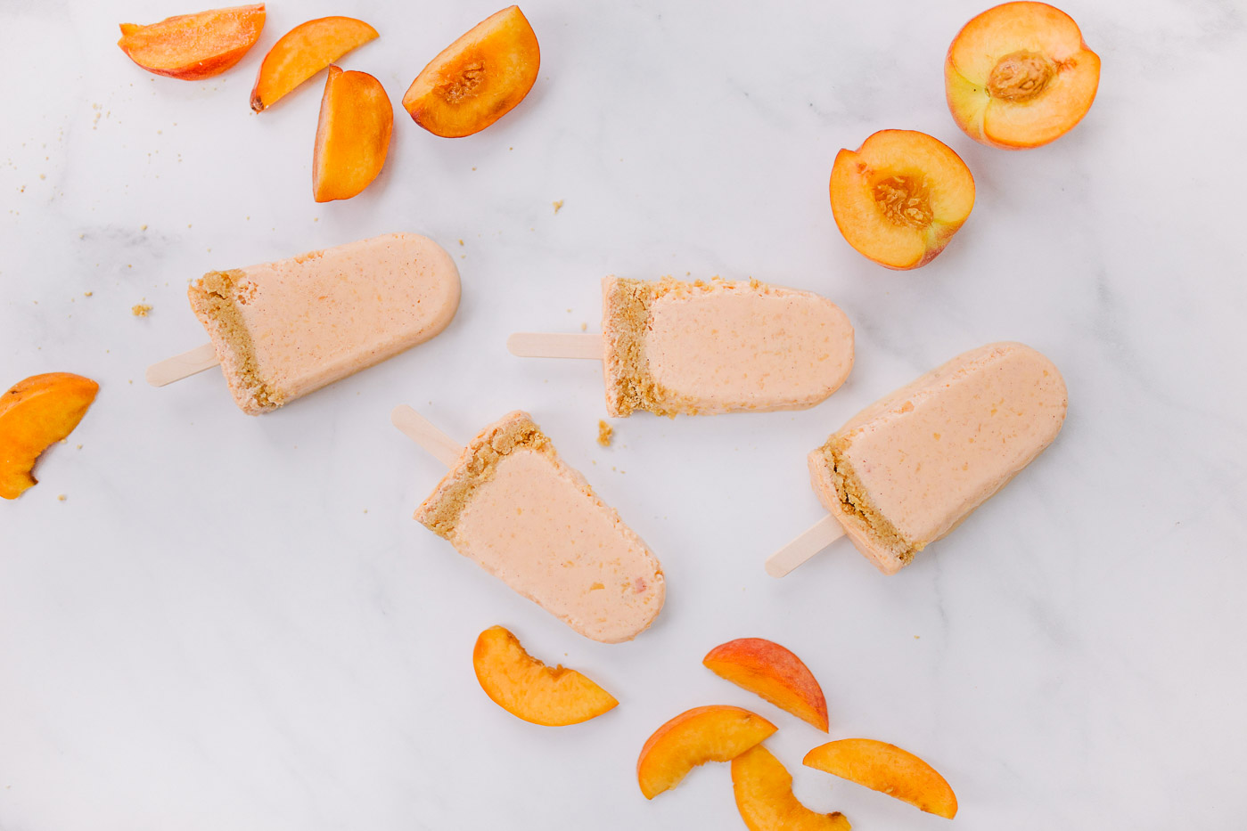 Peach cobbler popsicles by Southern Lifestyle expert Lauren Cermak.