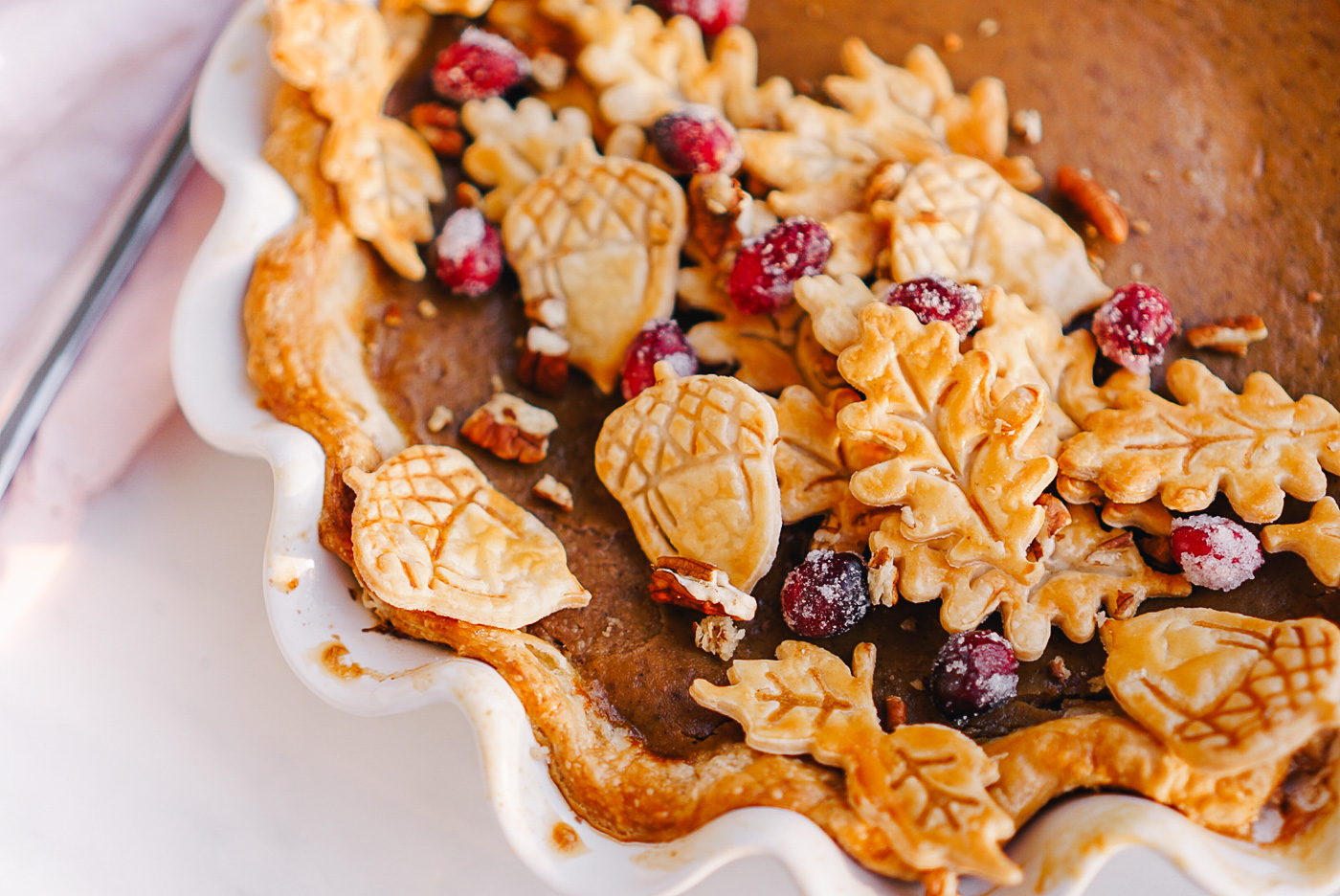 A recipe for maple pumpkin pie by Lauren Cermak of the Southern Lifestyle Blog, Going For Grace. This pie is the perfect addition to a Thanksgiving spread!