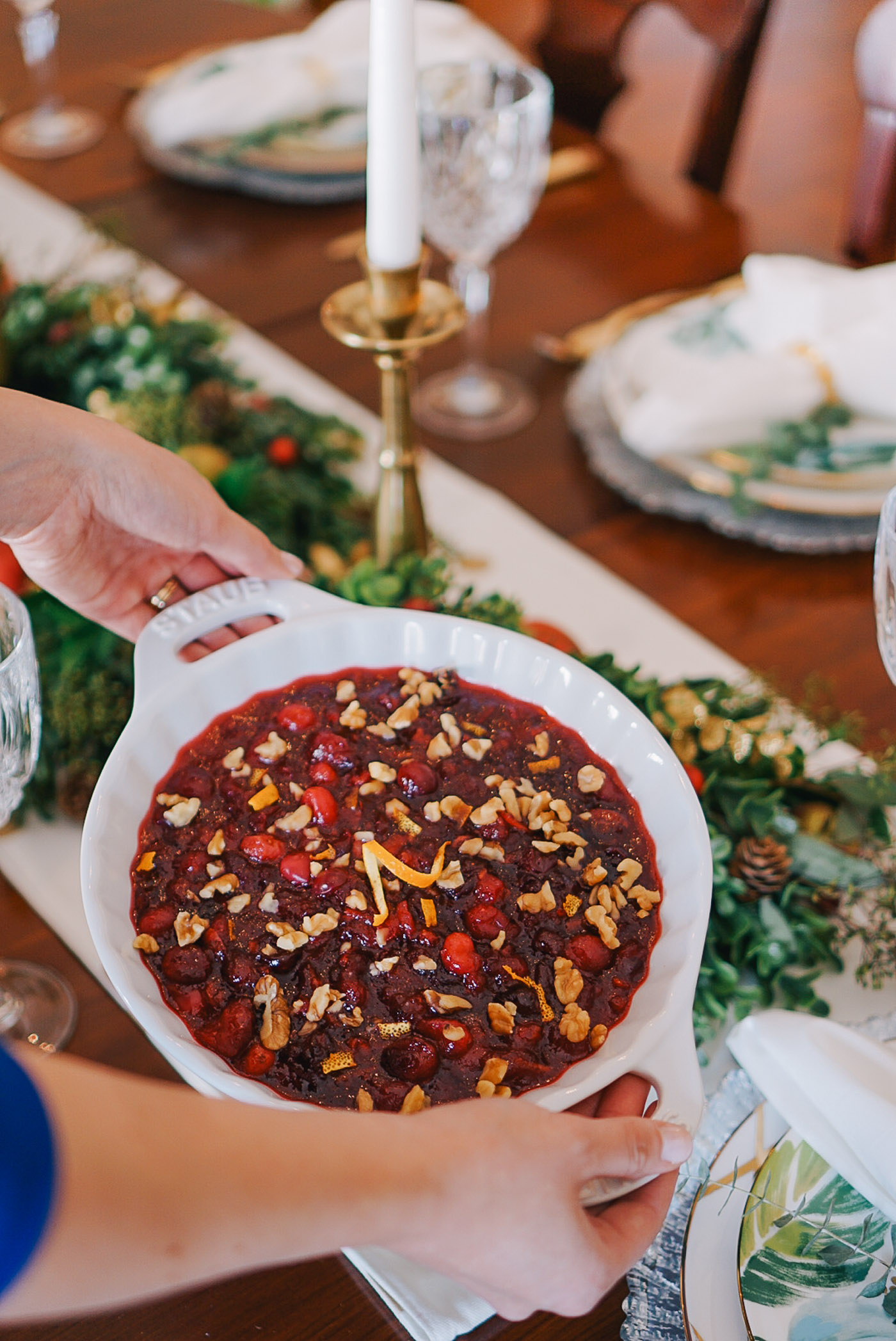 An easy recipe for spiced cranberry sauce by Lauren Cermak of the Southern lifestyle blog, Going For Grace.