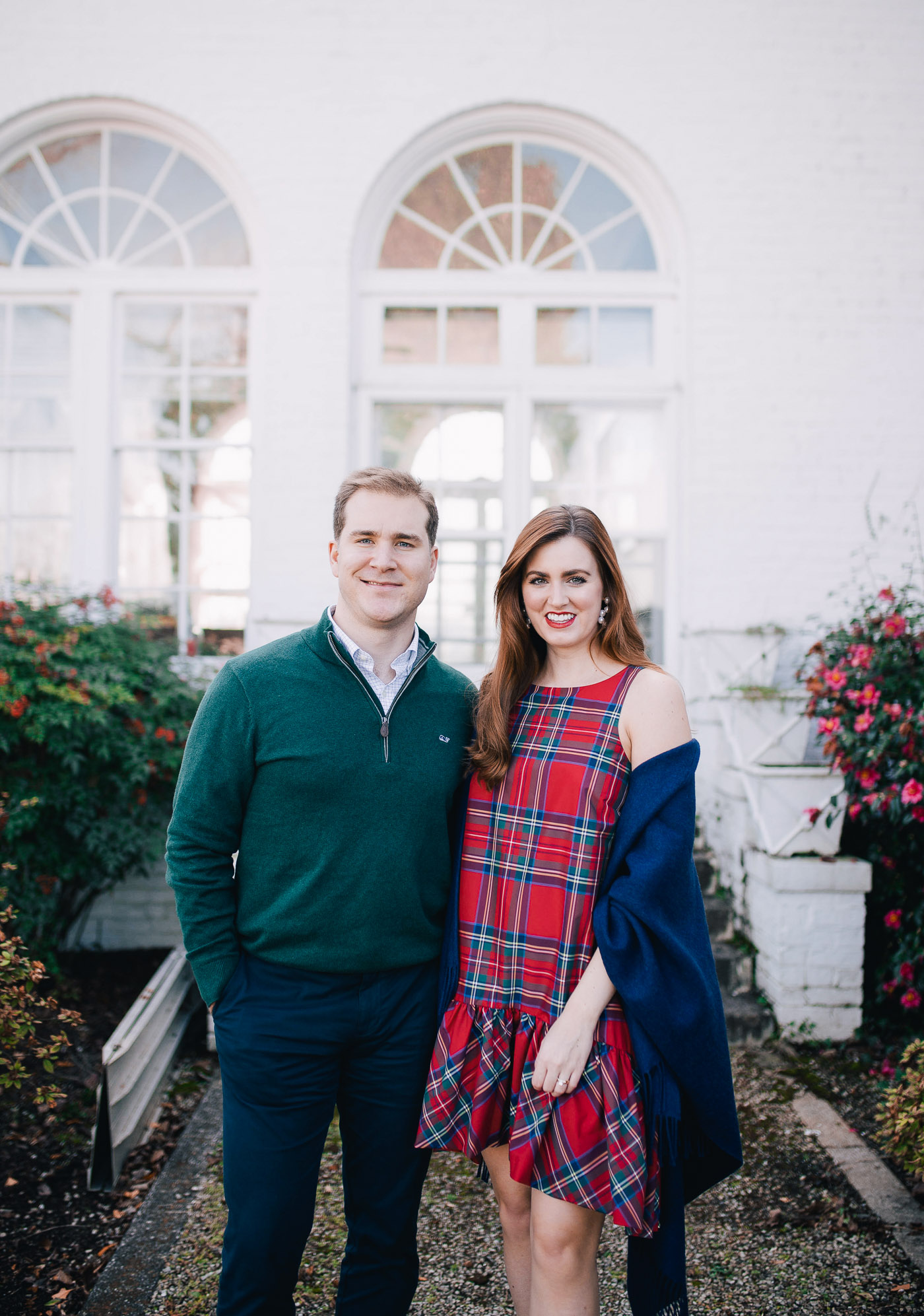 A guide to styling your own Christmas card photos in partnership with Vineyard Vines by Lauren Cermak of the Southern lifestyle blog, Going For Grace.