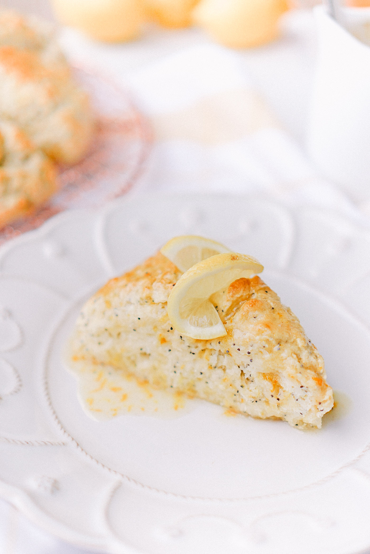 An easy recipe for tender Spring scones, full of citrus, poppy seeds, and buttermilk by Lauren Cermak of the Southern lifestyle blog, Going For Grace.