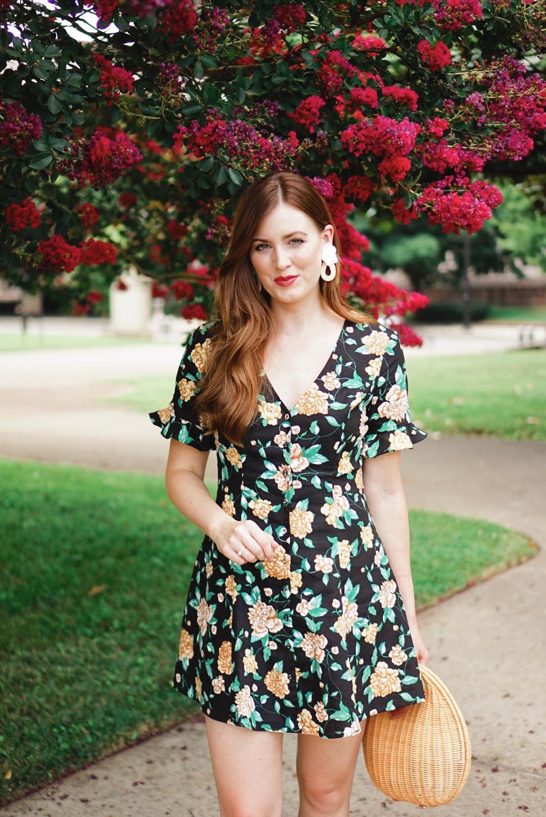 black-floral-midi-dress