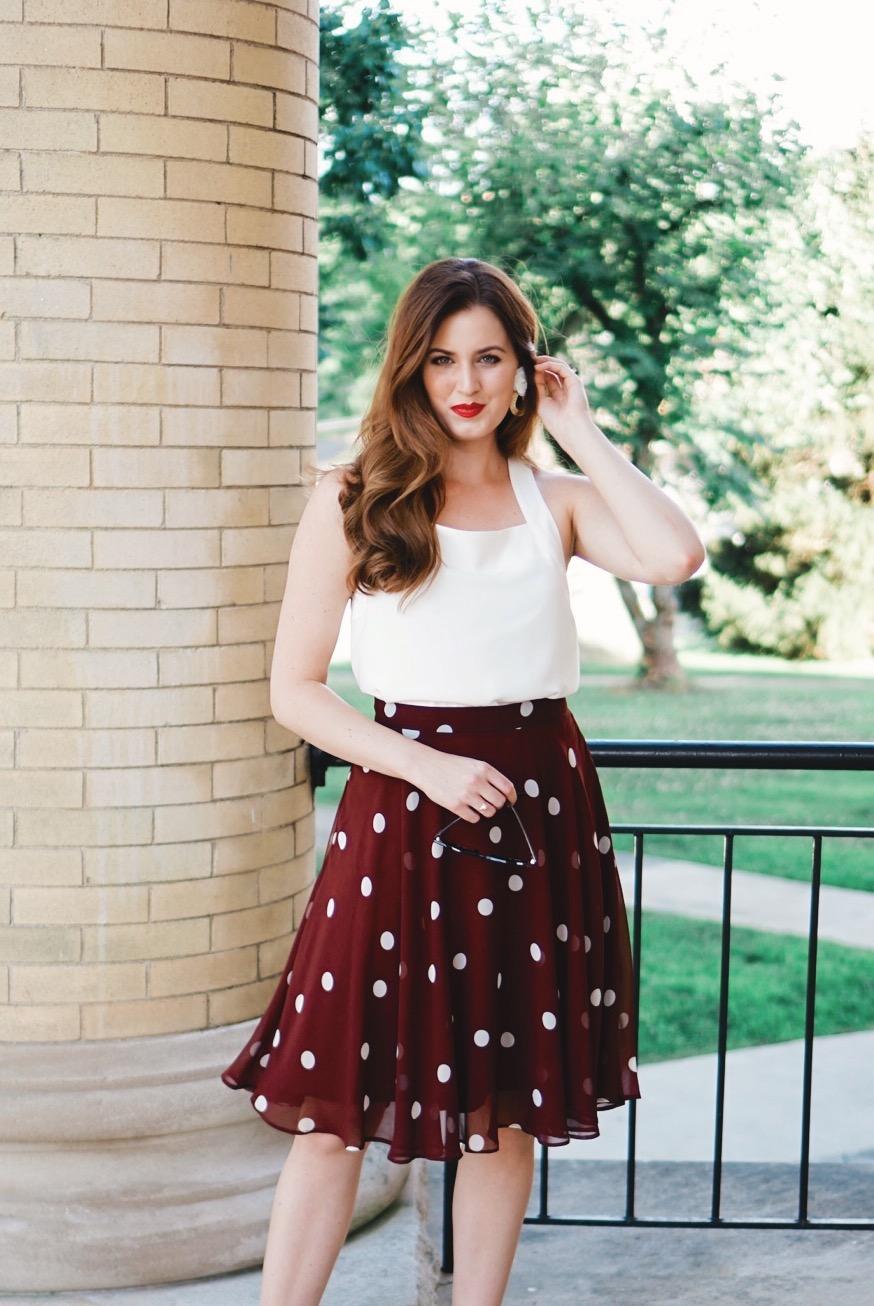 Ann-Taylor-Polka-Dot-Skirt
