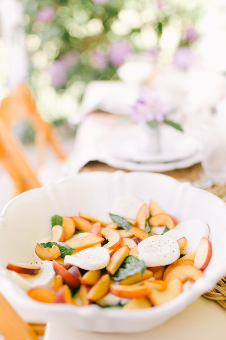 Five Minute Peach Caprese Salad