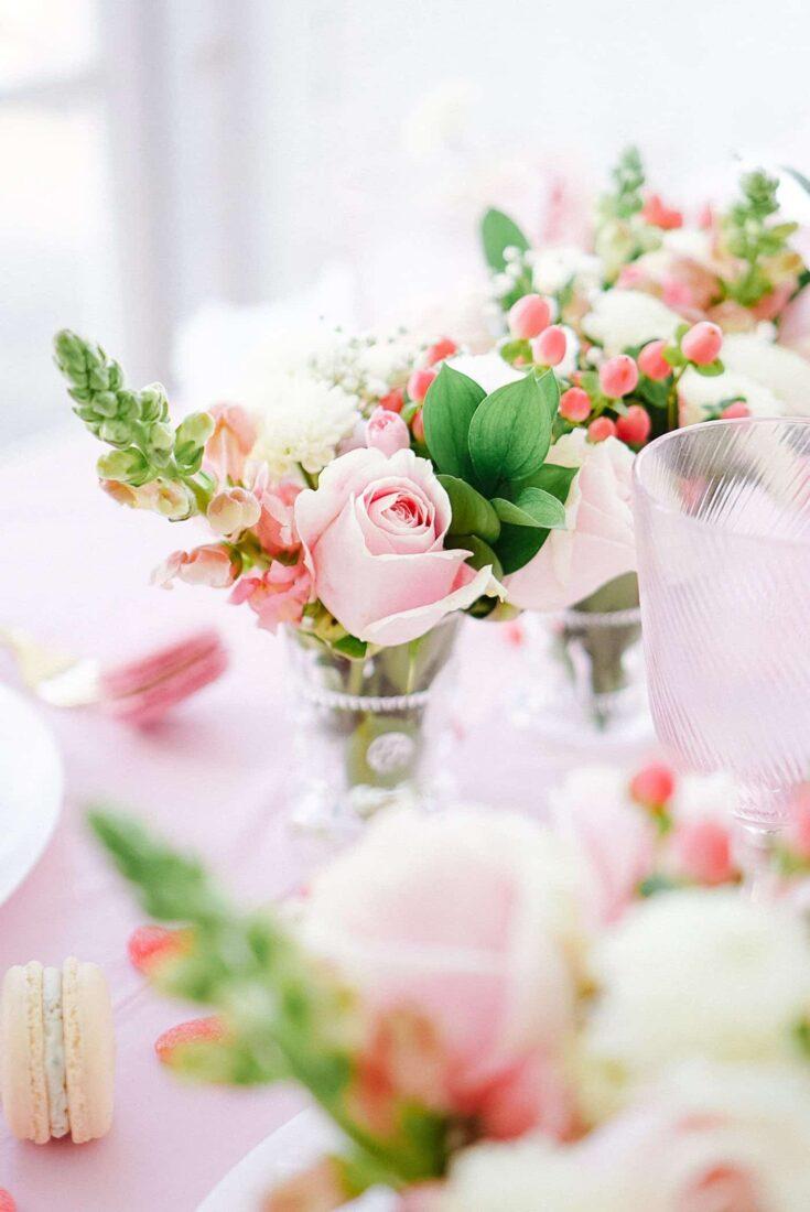 Petite Soft Pink Floral Arrangements
