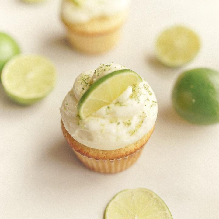 Small Batch Vanilla Lime Cupcakes