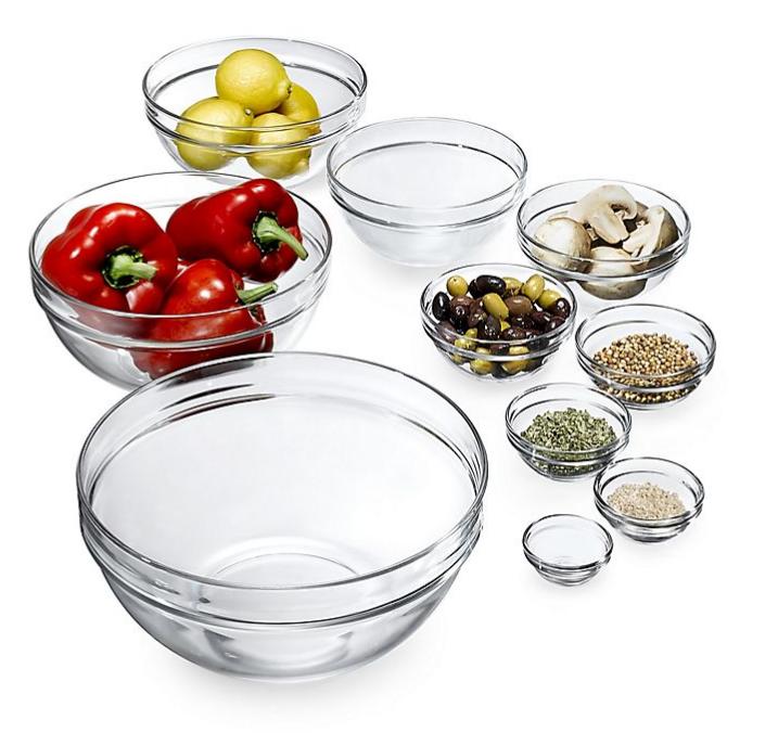 Glass Mixing & Prep Bowls